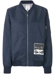 P.A.M. Perks And Mini Pam Printed Bomber Jacket Polyester S Blue