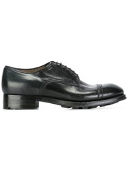 Silvano Sassetti Panelled Derby Shoes Black