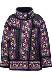 Isabel Marant Dillon Oversized Wool Blend Coat Multi