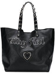 Red Valentino Stay Tote Bag Black