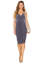 Misa Los Angeles Domino Midi Dress Grey