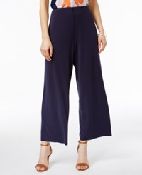 Alfani Soft Knit Dressing Culottes Only At Macy's Navy Nautical