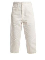 Chimala Farmer's Work Cotton Cropped Trousers Ivory