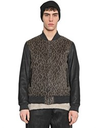 08 Sircus Nappa Leather And Wool Blend Bomber Jacket