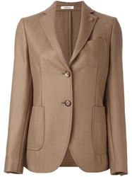 Lardini Chest Pocket Blazer Nude Neutrals