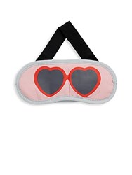 Flight 001 Sunglasses Print Eye Mask Pink