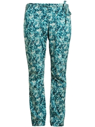 Dosa Scale Print Trousers Blue