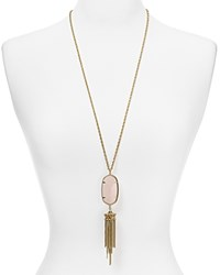 Kendra Scott Rayne Pendant Necklace 38 Rose Quartz