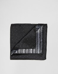 Jack And Jones Silk Pocket Square Black
