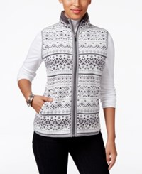 Karen Scott Printed Fleece Vest Only At Macy's Eggshell