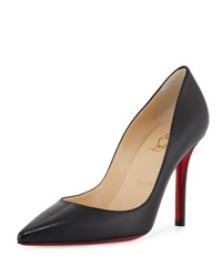 Christian Louboutin Apostrophe Leather 100Mm Red Sole Pump Black