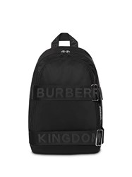 Burberry Large Logo Strap Backpack Black