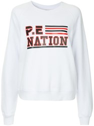 P.E Nation Blacktop Sweatshirt White