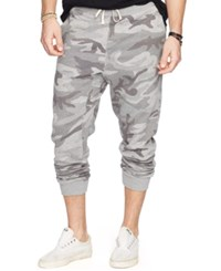 Denim And Supply Ralph Lauren Camouflage Print Fleece Jogger Pants Grey