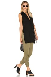 Bella Dahl High Low Tunic Black