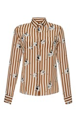 Stella Jean Potente Long Sleeve Classic Slim Fit Shirt Stripe
