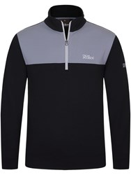 Oscar Jacobson Men's Pock Tour Half Zip Black