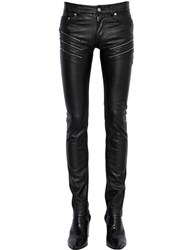 Saint Laurent 15Cm Zip Stretch Faux Leather Jeans