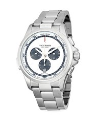 Victorinox Night Vision Stainless Steel Chronograph Bracelet Watch Silver