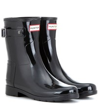 Hunter Original Refined Short Gloss Wellington Boots Black