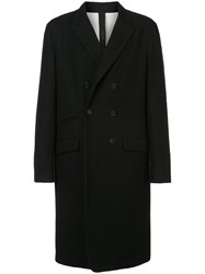 Forme D'expression Button Fastened Longsleeved Coat Black
