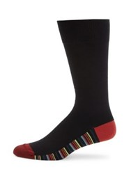 Paul Smith Striped Sole Knitted Socks Red Blue