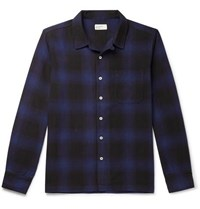 Universal Works Checked Cotton Shirt Navy