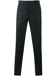 Alexander Mcqueen Side Stripe Trousers Black