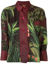 F.R.S For Restless Sleepers Jungle Print Silk Shirt Multicolour