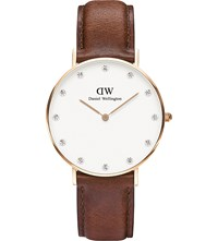Daniel Wellington 0510Dw St Mawes Rose Gold Plated And Leather Watch White