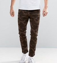 Brooklyn Supply Co. Co Skinny Fit Jeans In Grey Camo Grey Camo