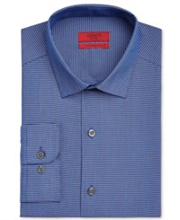 Alfani Red Men's Fitted Blue Black Mini Gingham Dress Shirt Only At Macy's