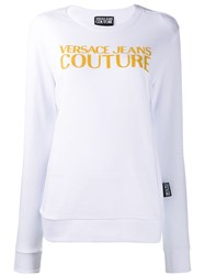 Versace Jeans Couture Caviar Logo Sweatshirt White