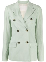Tela Double Breasted Fitted Blazer 60