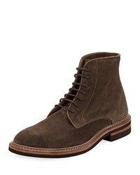 Brunello Cucinelli Kude Suede Lace Up Boot Green