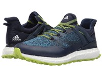 Adidas Crossknit Boost Navy Core Blue Solar Slime Men's Golf Shoes