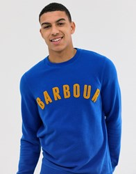 Barbour Prep Logo Crew Neck Sweat In Blue