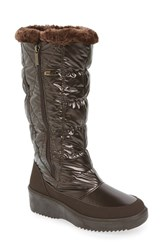 Pajar Women's 'Alexandra' Waterproof Boot Brown Fabric