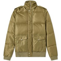 Saint Laurent Nylon Aviator Jacket Green