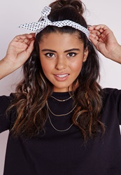 Missguided Polka Dot Wire Headband