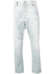 Emporio Armani Slim Distressed Jeans Blue