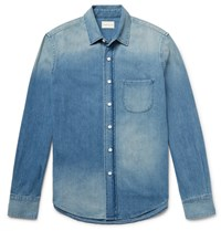 Simon Miller Slim Fit Washed Denim Shirt Mid Denim