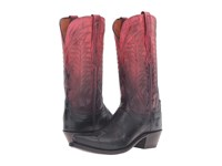 Lucchese Maxine Ombre Red Cowboy Boots Black