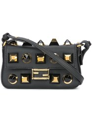 Fendi Micro Baguette Crossbody Bag Black