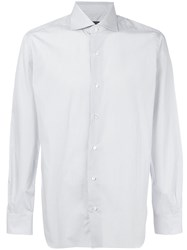 Barba Embroidered Fitted Shirt Blue