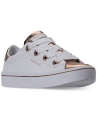 Skechers Women's Hi Lites Medal Toes Casual Sneakers From Finish Line Whte Rose Gold