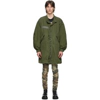 R 13 R13 Khaki Refurbished Camo Ring Parka