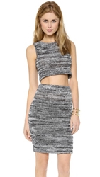 For Love And Lemons Sporty Knit Crop Top Grey Heather