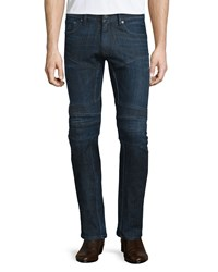 Ralph Lauren Black Label Piston Stretch Moto Jeans Indigo Women's