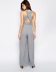Love Jumpsuit With Cross Back Grey